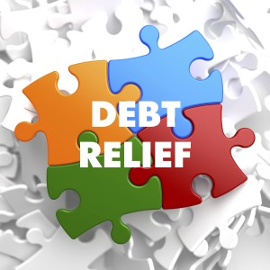 Debt Relief on Multicolor Puzzle.